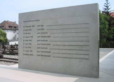 Memorial Deportation of  Stuttgart Jews