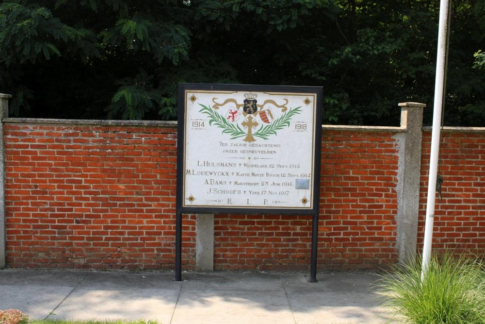 Memorial First World War Beringen