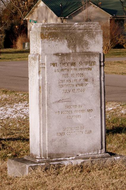 Monument Pvt. Thomas Simpson