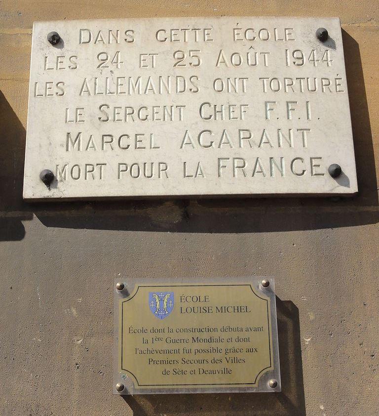 Plaque Marcel Agarant