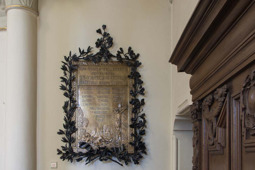 Saint Willibrord Church Merksplas Commemorative plaque Fallen 14-18