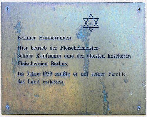 Plaque Selmar Kaufmann
