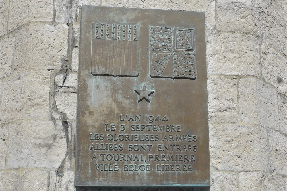 Plaque Liberation Tournai