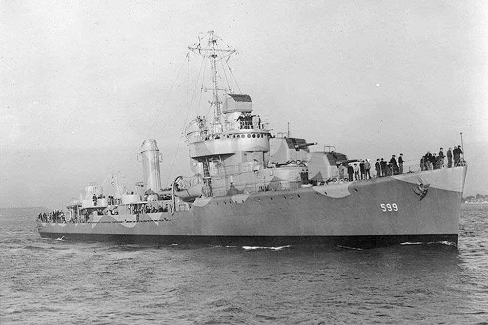 Scheepswrak USS Barton (DD-599)