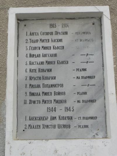 War Memorial Dospey
