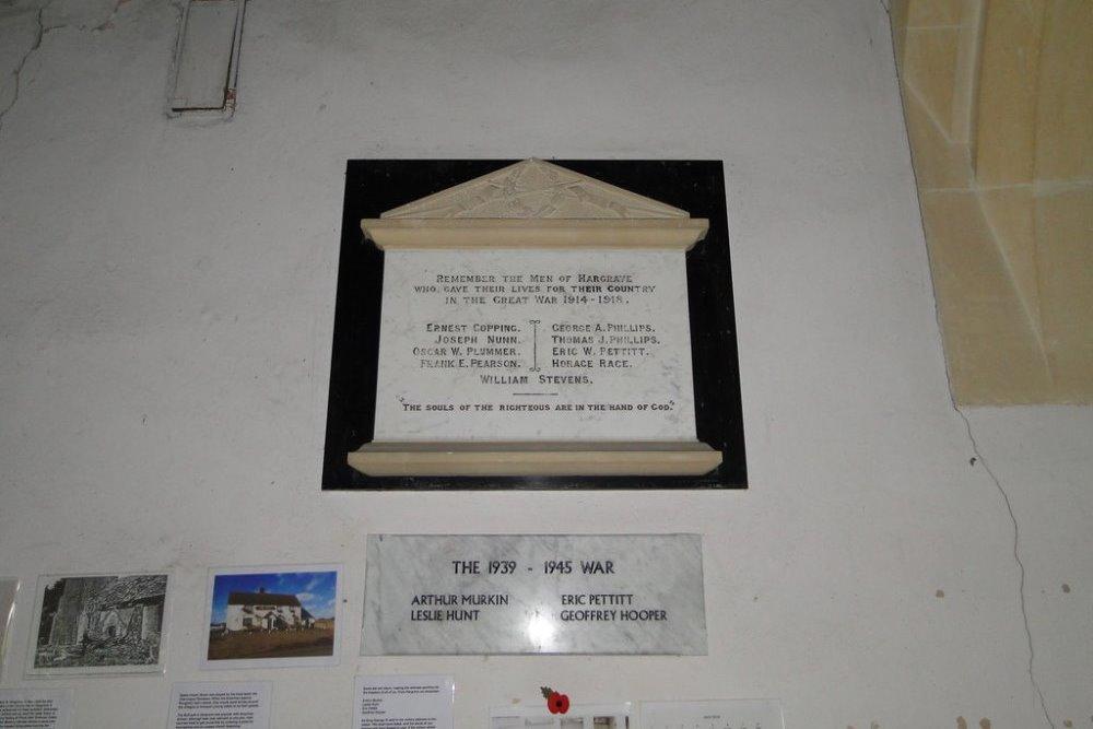 War Memorial Hargrave