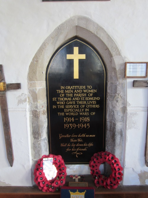 Monument St Thomas & St Edmund's Salisbury
