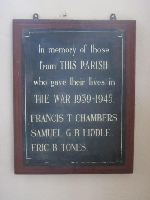 Oorlogsmonument Church of St Cuthbert Kildale