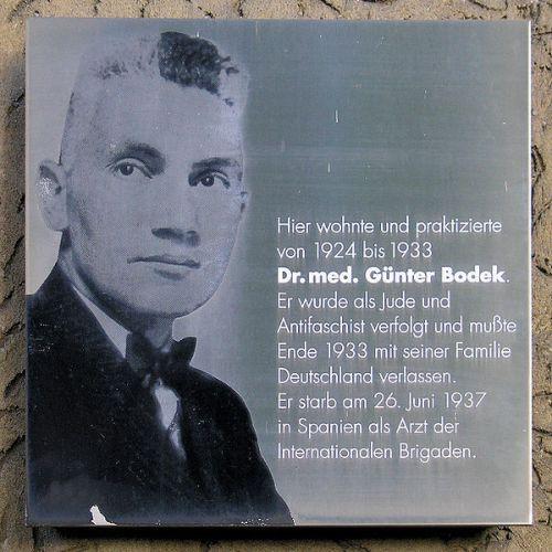 Plaquette Günther Bodek