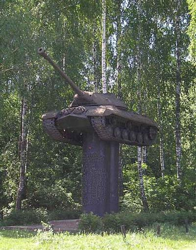 Mass Grave Soviet Soldiers & IS-3 Heavy Tank Trostyanets