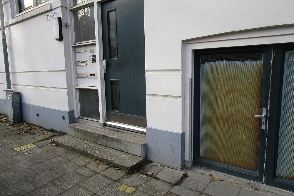 Stumbling Stones Burgemeester Hofmanplein 61A / 61B