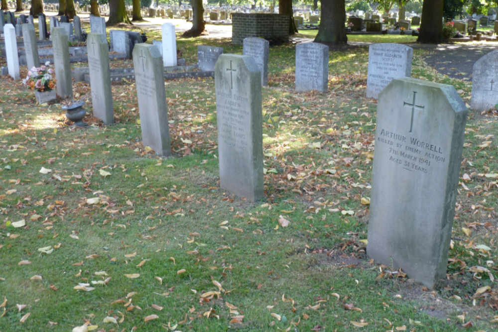 Graves Civilian Casualties Newark-on-Trent