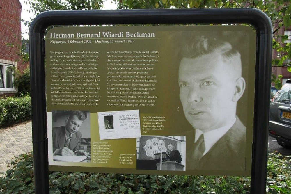 Information Panel Resistance Fighter Herman Bernard Wiardi Beckman