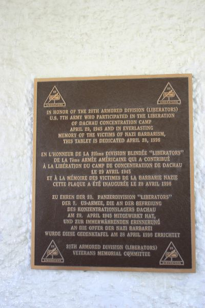 Plaquettes Amerikaanse Bevrijders Dachau