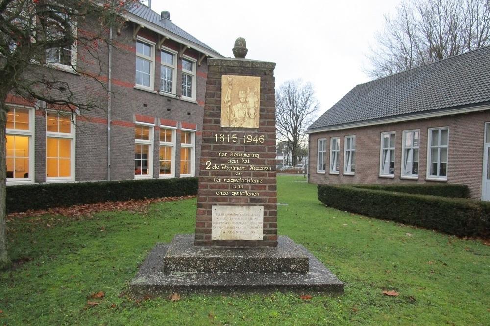 Memorial column 2nd Regiment Hussars Breda