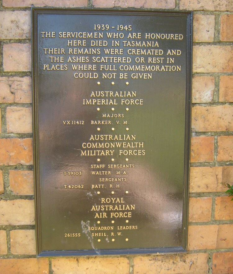 Tasmania Cremation Memorial