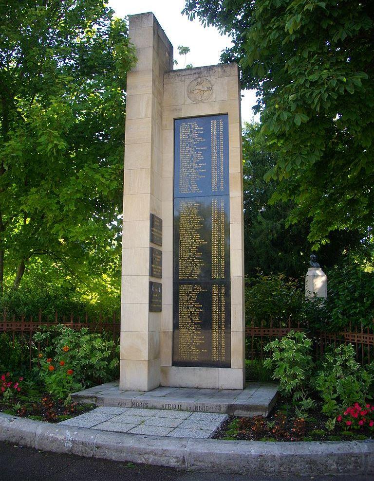 Monument Noord-Afrikaanse Oorlogen Aube