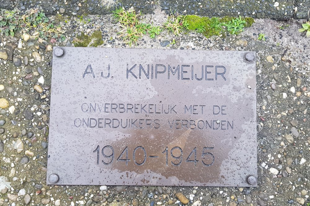 Plaquette Albert Knipmeijer
