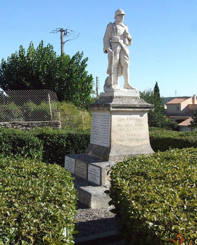 War Memorial Nages-et-Solorgues