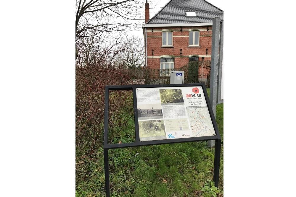 Cycle Route Battle of the Ringbeek, Information Board Lodi