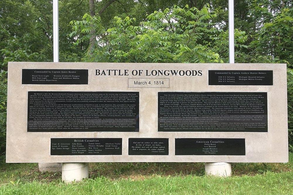 Monument Slag van Longwoods