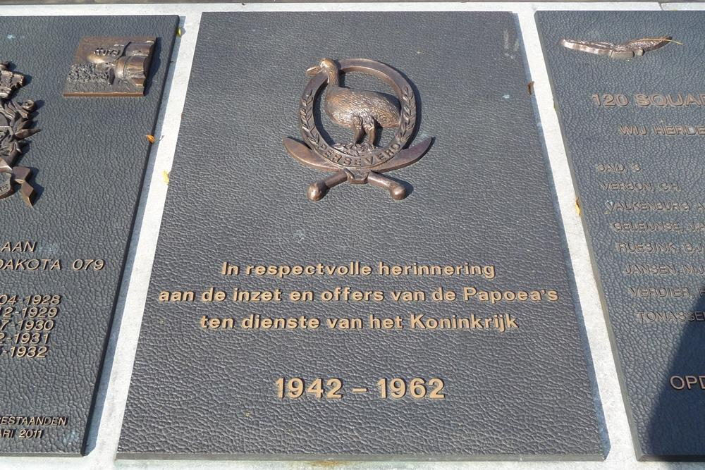 Nationaal Herdenkingspark Roermond - Plaquettes Nederlandse Legeronderdelen