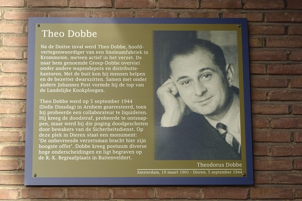 Herdenkingsborden Slotermeer Theodorus Dobbestraat