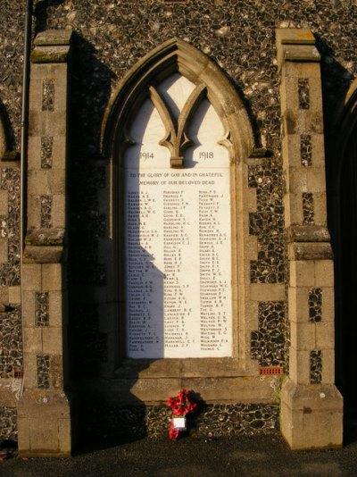 War Memorial Leiston Cemetery