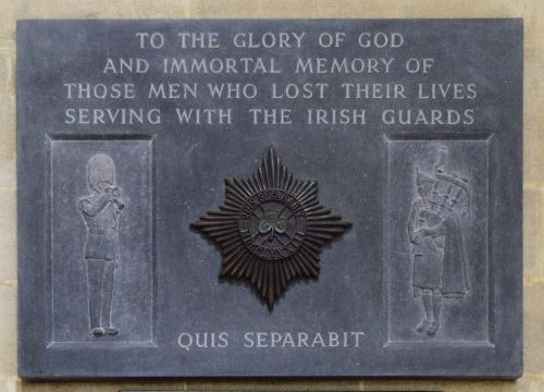 Monument Irish Guards St Anne Cathedral