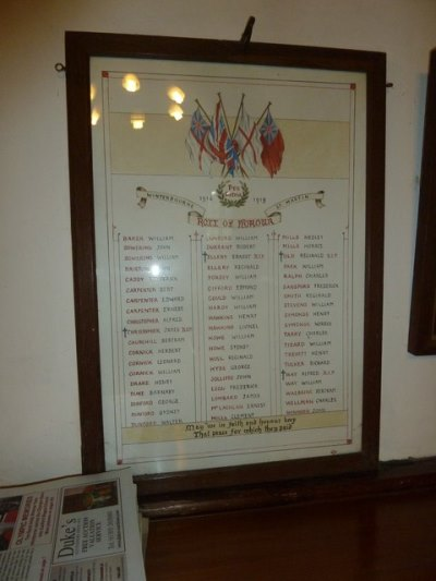 Roll of Honour St. Martin Church