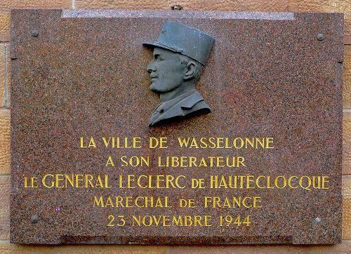 Plaque Liberation Wasselonne