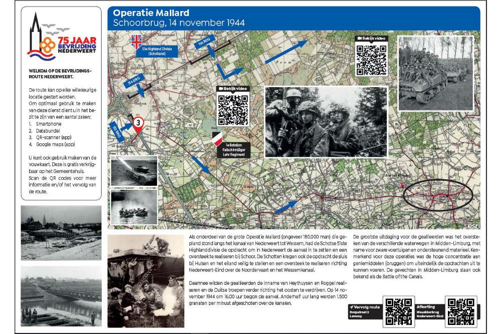 Bevrijdingsroute Locatie 3 - Operatie Mallard Schoorbrug