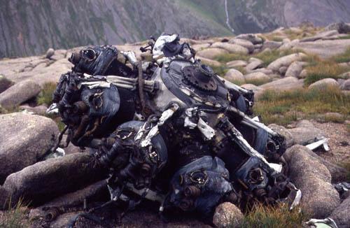 Crash Site & Wreckage Bristol Blenheim Bomber Sròn na Lairige