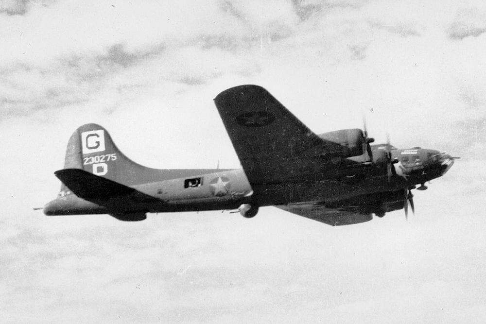 Crashlocatie B-17F-25-BO