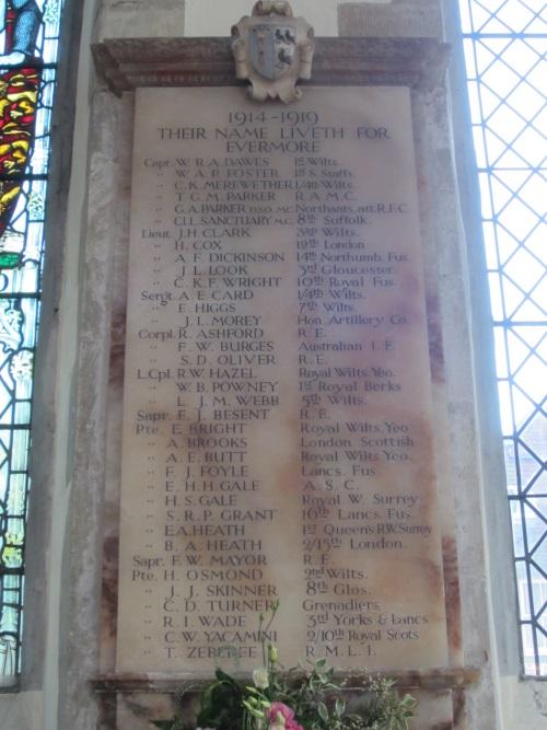 Plaquettes St Thomas & St Edmund's Salisbury