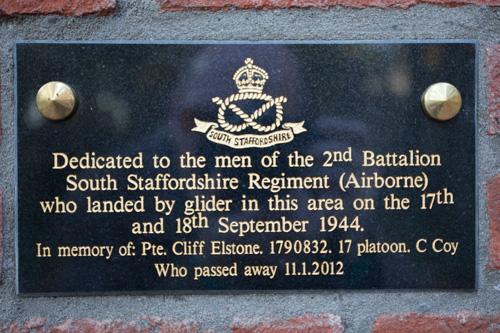 Plaquette 2e Bataljon South Staffordshire Regiment