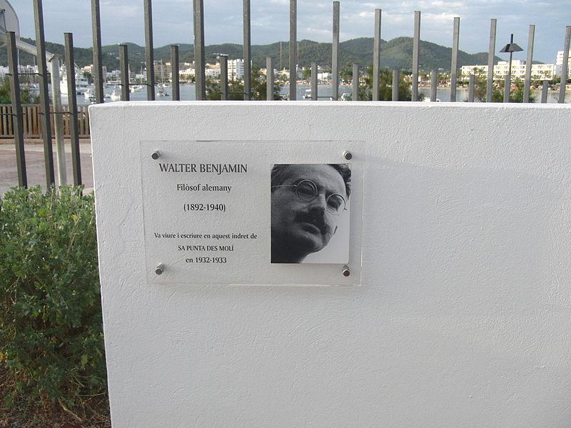 Plaque Walter Benjamin