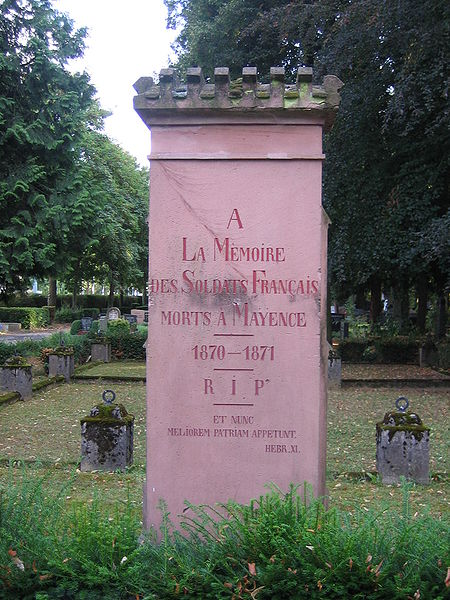French Plot Franco-Prussian War Mainzer Hauptfriedhof