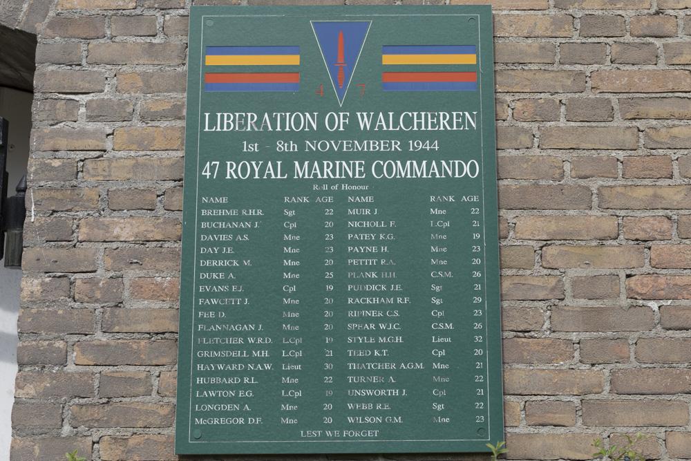47th Royal Marines Commando Plaque Dishoek