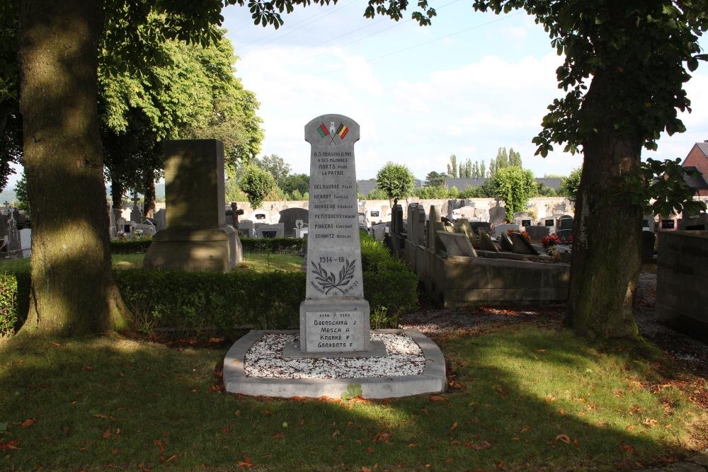 Oorlogsmonument A.S. Herstalienne Begraafplaats Rhees Herstal