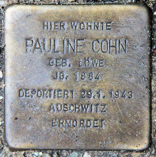 Stumbling Stone Goethestraße 37