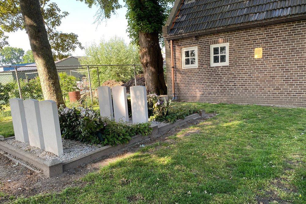 Plaquette Bemanning Lancaster Bommenwerper Algemene Begraafplaats Grafhorst