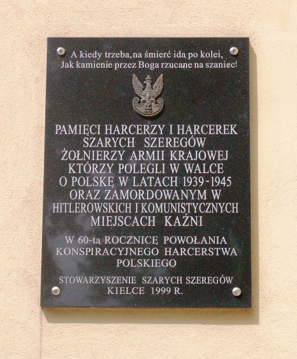 Plaquete Armia Krajowa Kielce