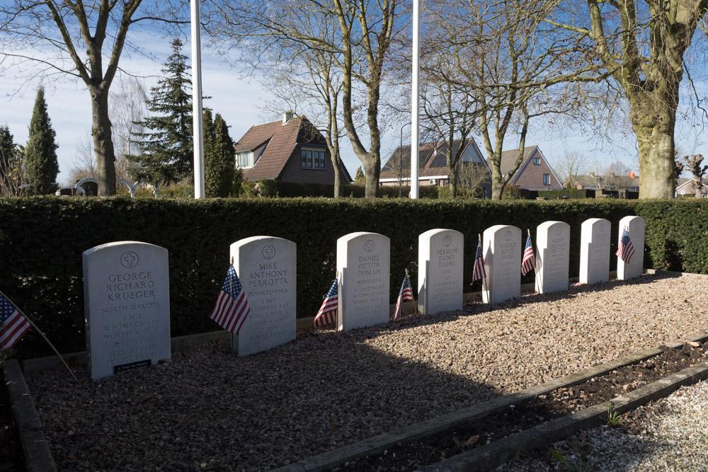 Amerikaanse Oorlogsgraven Protestantse Kerkhof Opijnen