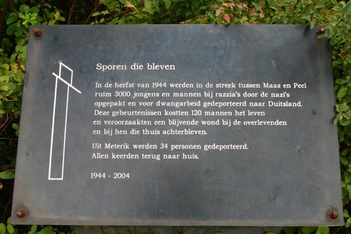 Monument 'Sporen die bleven' Meterik