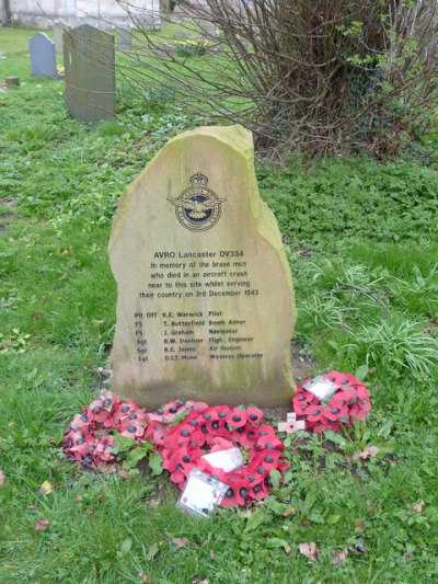 Monument Crash AVRO Lancaster DV334