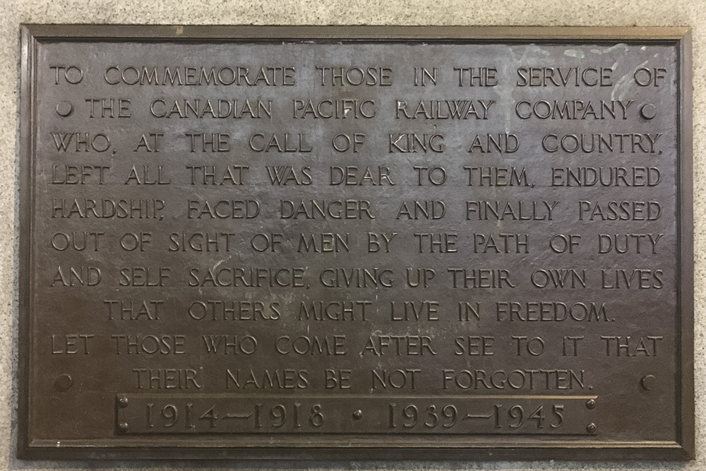 Canadian Pacific Railway War Memorial