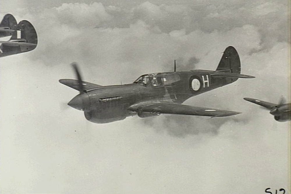Crashlocatie P-40N-1-CU Kittyhawk NZ3126 Code C