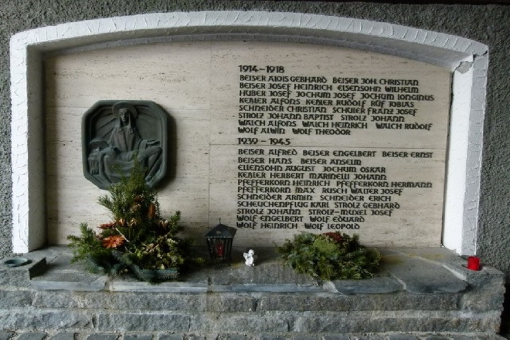 Monument To The Soldiers Who Died In WWI And WW II Lech Am Arlberg