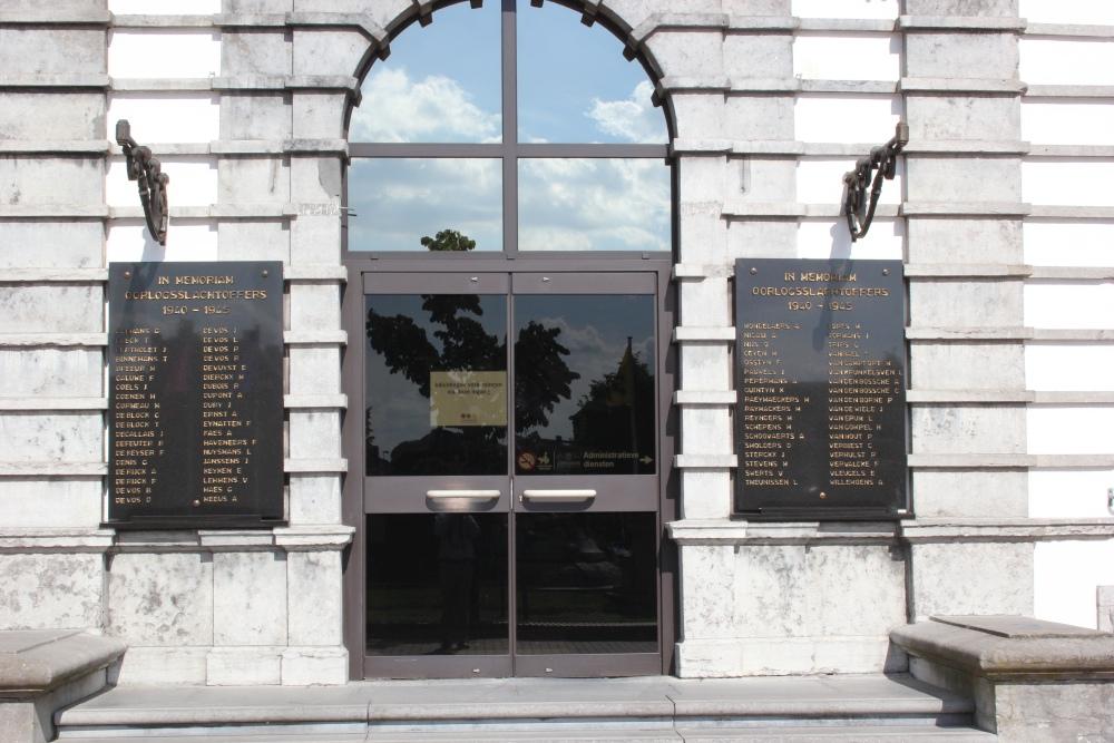 Commemorative Plaques Leopoldsburg